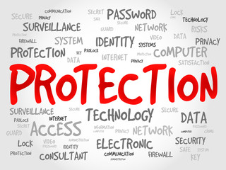 PROTECTION word cloud, business concept