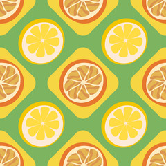 Abstract citrus fruit seamless pattern.