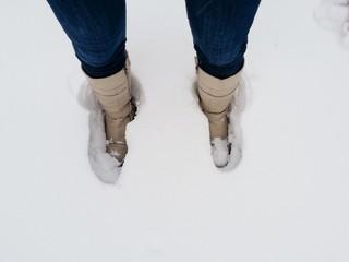 Ноги в снегу
