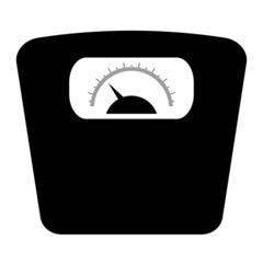 Bathroom floor scales icon