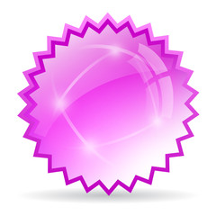 Pink glass star icon