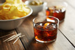Vermouth glass with appetizers - 79724592