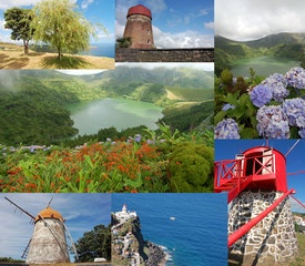 Azores islands collage