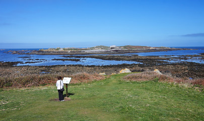 Looking towards Lihou Island from Guernsey