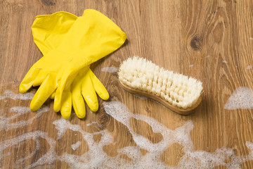 Concept cleaning - washing floors