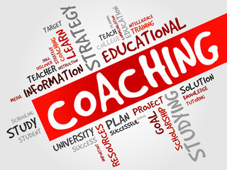 COACHING word cloud, education concept