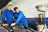 car maintenance, oil and filter replacing