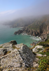 Sea mist on the South coast of the Channel Island of Guernsey