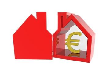 Minder huizen verkocht in eurozone