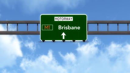 Brisbane Australia Highway Road Sign