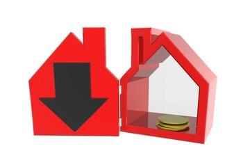 Verlies, minder transacties of dalende waarde van vastgoed