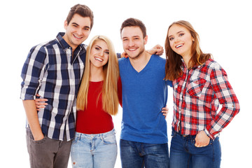 Group of happy young people