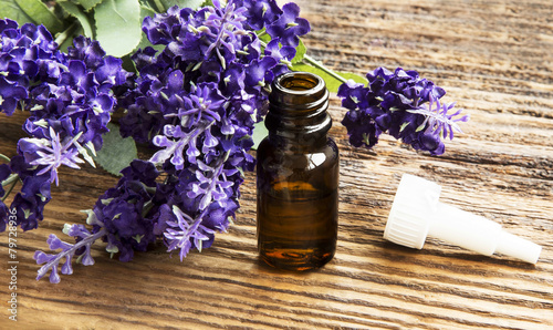 Foto op Aluminium Lavendel Lavender Essence Bottle