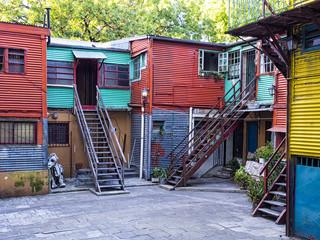 Häuser im Boca-Viertel, Buenos Aires, Argentinien