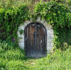 Cellar door at the hill-side