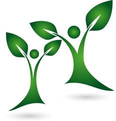 Logo, Pflanze, Blätter, Menschen, Heilpraktiker
