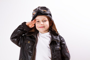 young boy pilot