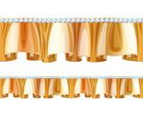 Golden frill ruffle with diamonds.