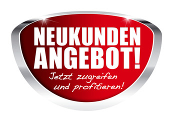 Neukunden-Angebot! Button, Icon