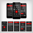 vector template mobile user interface - 79732355