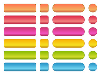 colorful set of blank buttons