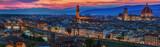 Fototapety Florence city panorama at sunset. Panoramic view.