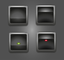 Black square button