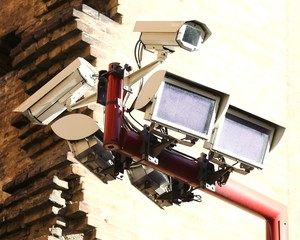 Special lamps for camera controlling crimes in city