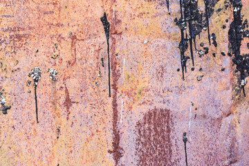 Rusty Metal Colorful Background with Scratches