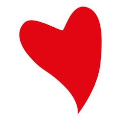 Rotes geschwungenes Herz