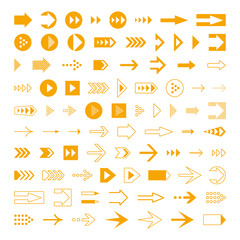 Arrows set, different styles cursors.