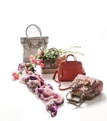 Handbags and flowers