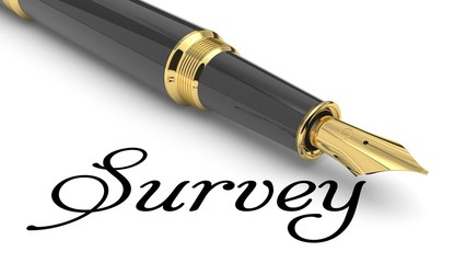 Survey word and pen