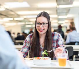student girl eating