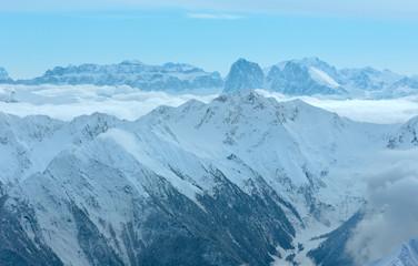 Dolomiten Alps winter view (Austria)