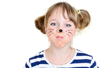 little mouse girl  with funny face