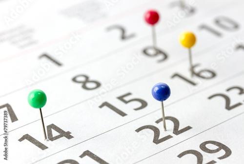Kalender closeup - 79737389