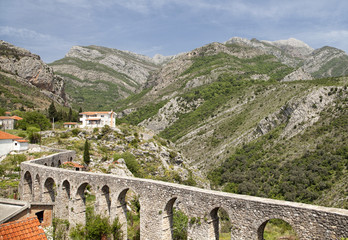 Aqueduct in Old Bar, Montenegro