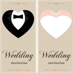 Beautiful wedding  invitation cards
