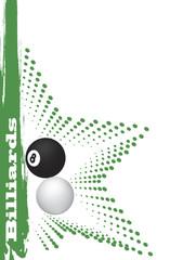 Green billiard star