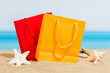Summer signings, bags on the beach - 79738367