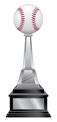 Baseball Trophy - Black Base