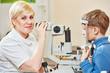 Ophthalmologist or optometrist worker