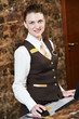hotel worker with key card - 79738786