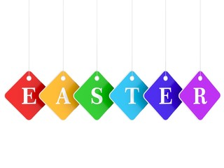 Colored hanging labels - easter tag