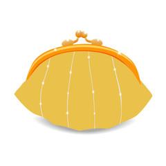 Beautiful vector purse