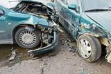 automobile crash collision in urban street