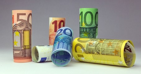 Geldscheine Rollen EUR