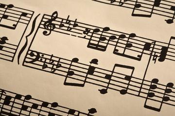 Musiknoten / note sheet