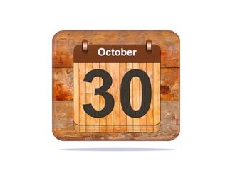 October 30.